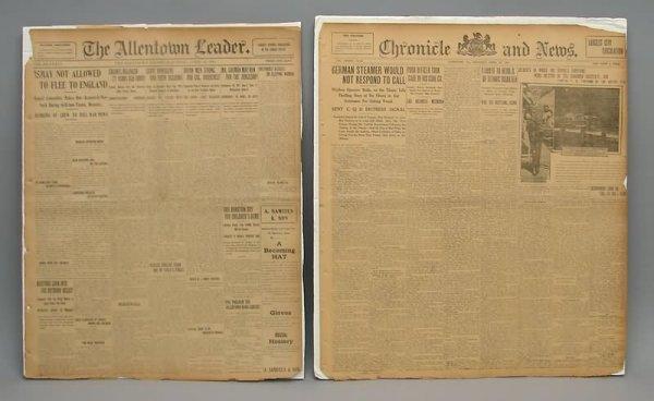 2019: Titanic Newspapers