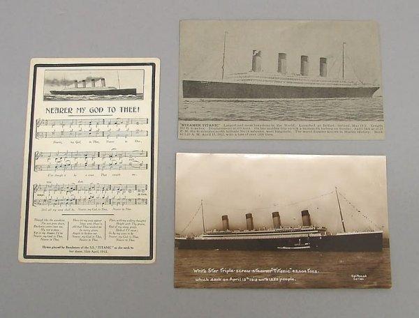 2020: 3-Titanic Postcards