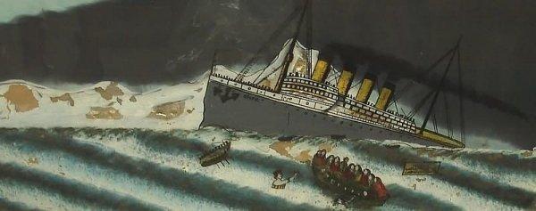 2024: Reverse Glass Painting-Titanic