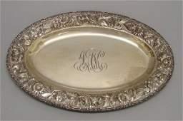 2176: Sterling Silver Oval Presentation Platter