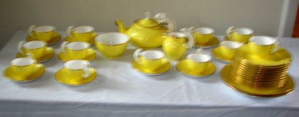7002: Copeland Spode Tea Set with Cat Handles