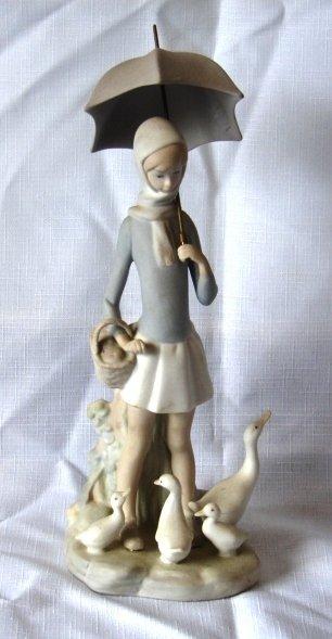 7014: Lladro Figure - L# 4510 - Girl with Umbrella