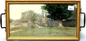 7216: Wallace Nutting - Farm Scene in Pin Tray