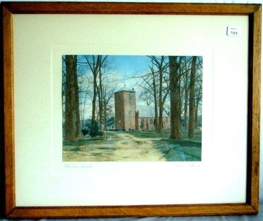 7315: Wallace Nutting - Bemis Church - Rare