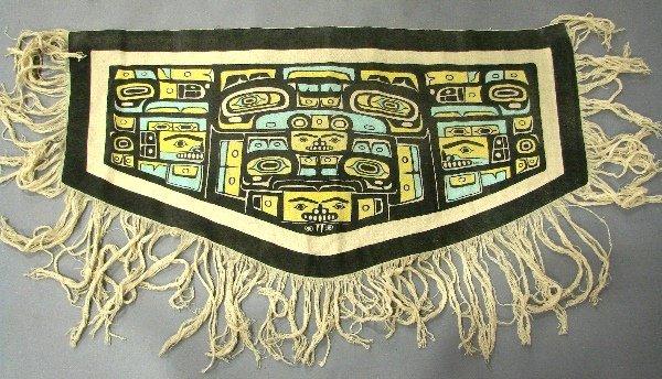 7566: Chilkat Native American Woven Shawl