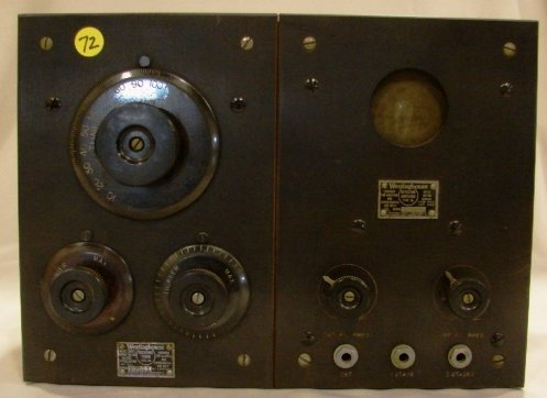 1002: Westinghouse Receiving Radio Tuner & Detector Amp