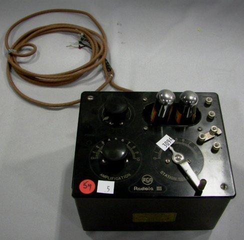 1005: RCA-Radiola Model III Radio Receiver