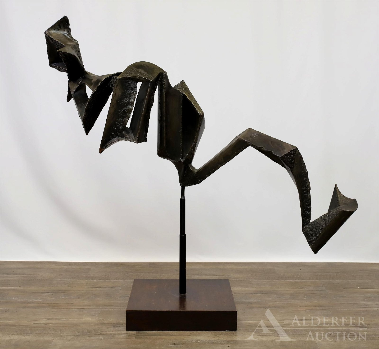 Leon Sitarchuk Bronze Abstract Floor Sculpture