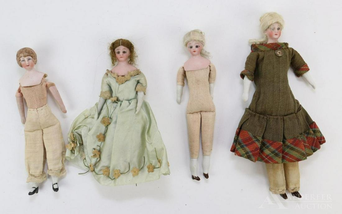 """ANTIQUE BISQUE HEAD DOLL(S), 12"""" AND UNDER."""
