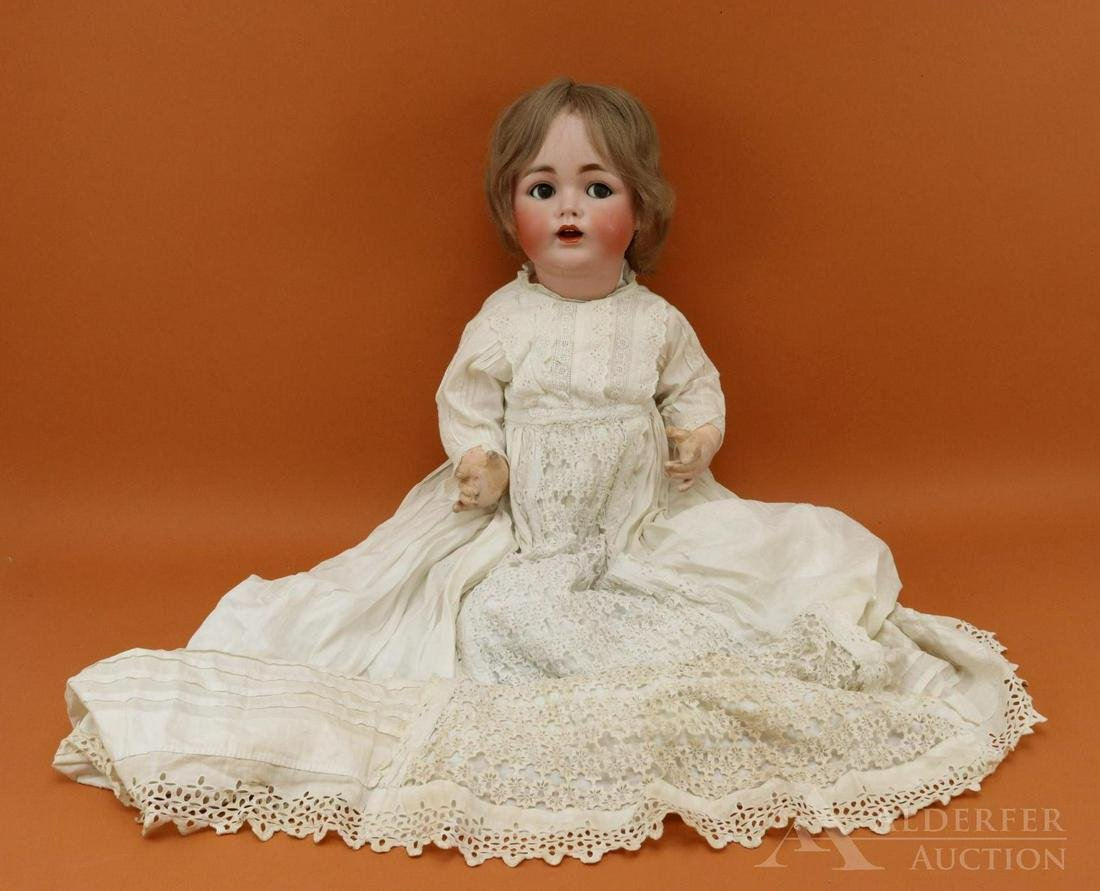 LOT OF GERMAN BISQUE HEAD BABY DOLLS.