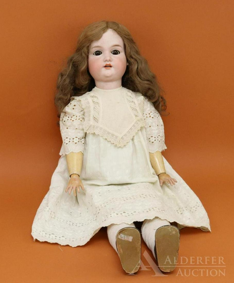 ANTIQUE GERMAN BISQUE HEAD DOLL.