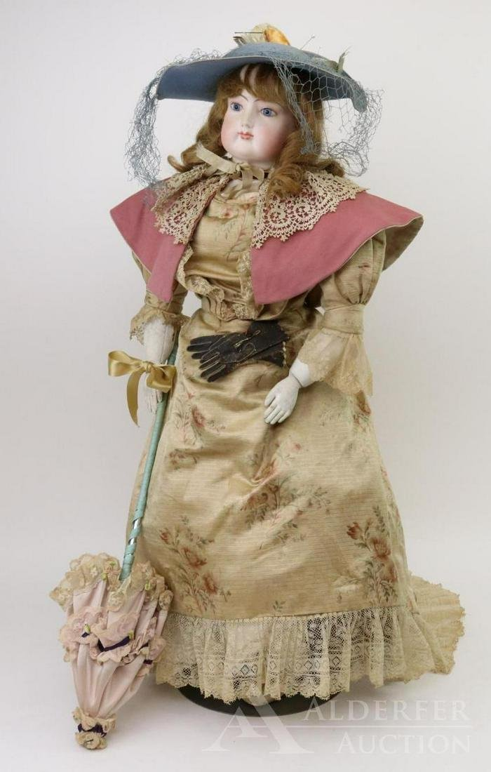 ANTIQUE FRENCH  FASHION BISQUE HEAD DOLL.