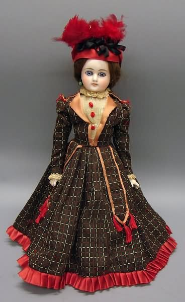 "5018: 14"" Unmarked Solid Dome Belton Type Doll"