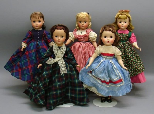 "5097: Set of 5 M Alexander 14"" HP 1947-56 Little Women"