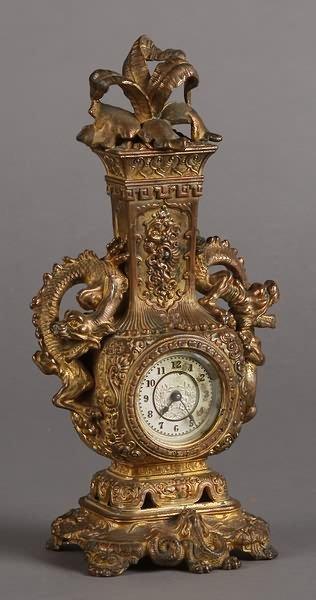 "1024: Ansonia ""Tokio"" Novelty Clock"