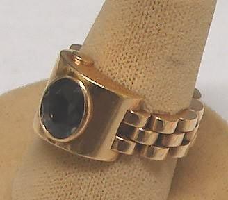 1105: Bluegreen Sapphire  Ring