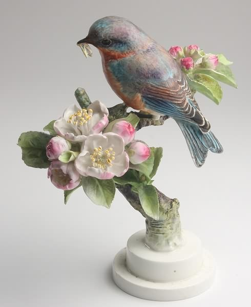 2005: Dorothy Doughty Bluebird Cock with Apple Blossom