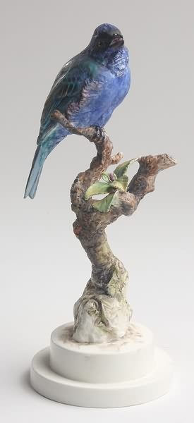 2009: Dorothy Doughty Indigo Bunting on a Sprig of Plum