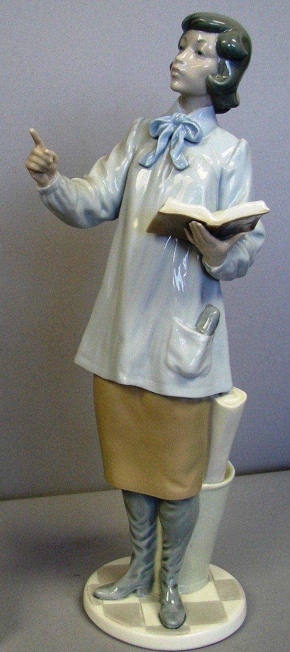 """8809: Lladro Figure-Teacher Woman #G5048, 14.5"""" Ret."""