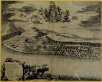17th Century Map of Evian FranceBlaeu