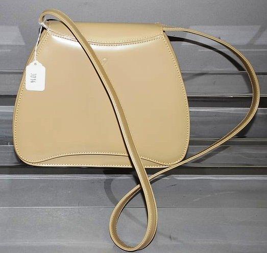 3014: Inde crème Handbag in Unique Shape