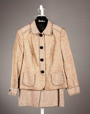 3062: Rena Lange Brown Skirt Suit (10-12)