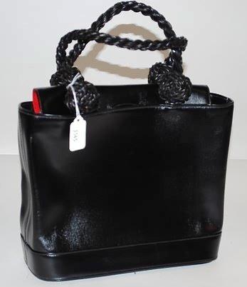 3545: Renaud Pellegrino Black Leather Handbag