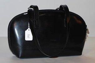 3547: Furla Black Leather Calfskin Handbag