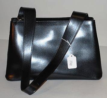 3548: Furla Black Leather Calfskin Handbag