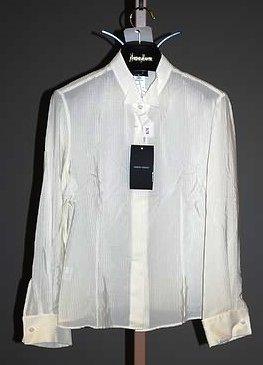 3638: Giorgio Armani Ivory Silk Long Sleeve Blouse (12)