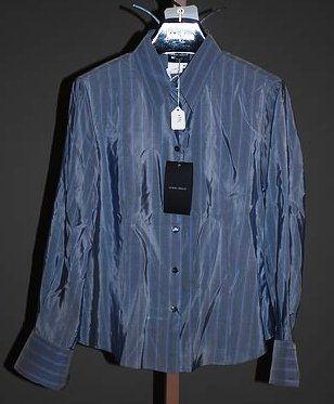 Giorgio Armani Gray Long Sleeve Silk Blouse (12)