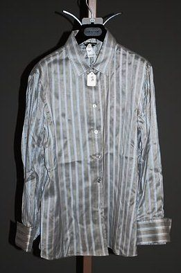 Giorgio Armani Gray Silk Long Sleeve Blouse (12)