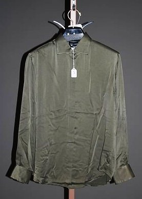 3647: Giorgio Armani Green Long Sleeve Silk Blouse (12)
