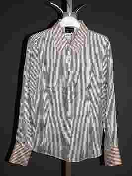 Giorgio Armani Ivory Silk Long Sleeve Blouse (12)