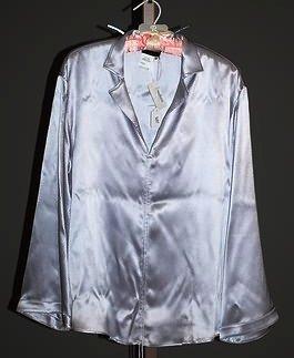 3687: Giorgio Armani Lavendar Silk L-S Blouse (12)