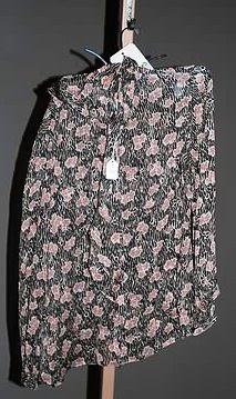 3905: Giorgio Armani Black/Pink Silk LS Blouse (12)