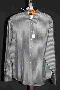 3911: Giorgio Armani Green Silk LS Blouse (10)