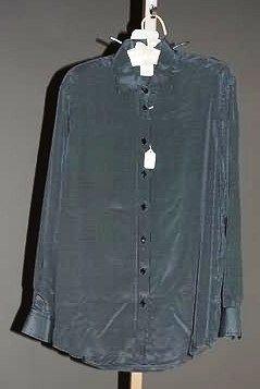 3923: Giorgio Armani Navy Silk L-Sleeve Blouse (12)