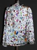 3933 Andr Laug MultiColor Silk LSleeve Blouse 12