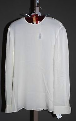 3942: Giorgio Armani Ivory Silk L-Sleeve Blouse (10)