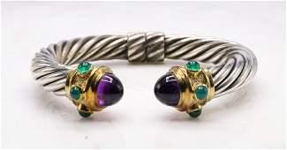 David Yurman Sterling Silver 14KY Bracelet