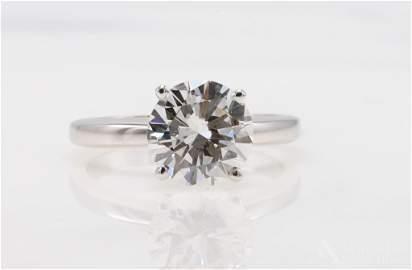 14KW Diamond Solitaire, 2.22 ct