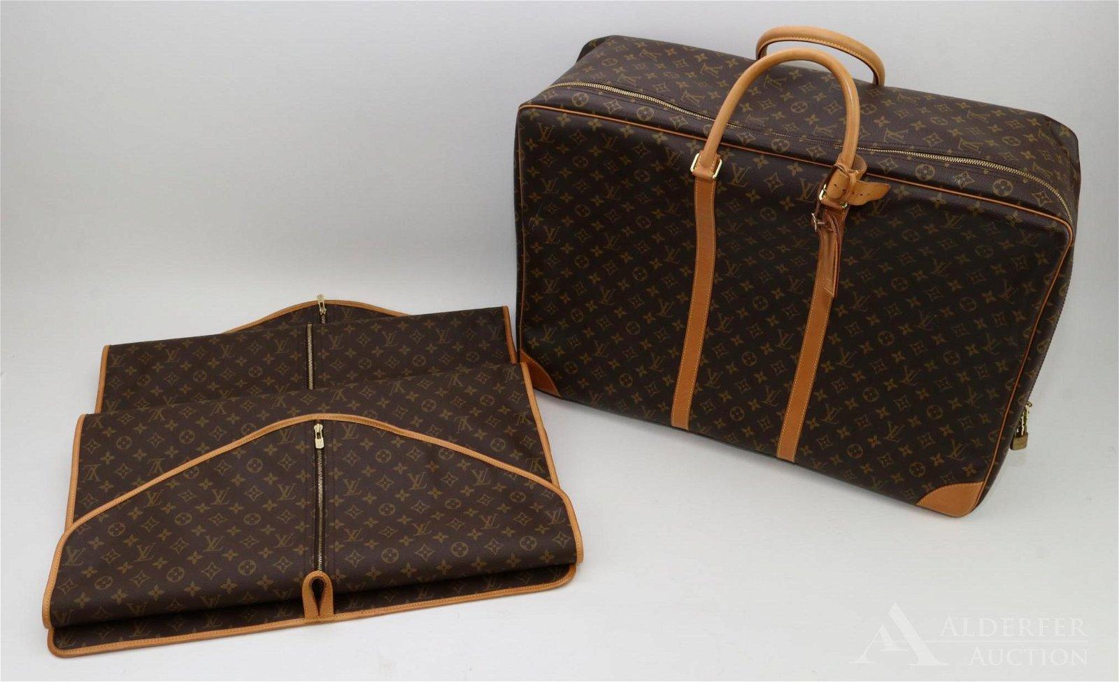 Louis Vuitton Monogram Suitcase & Garment Bags