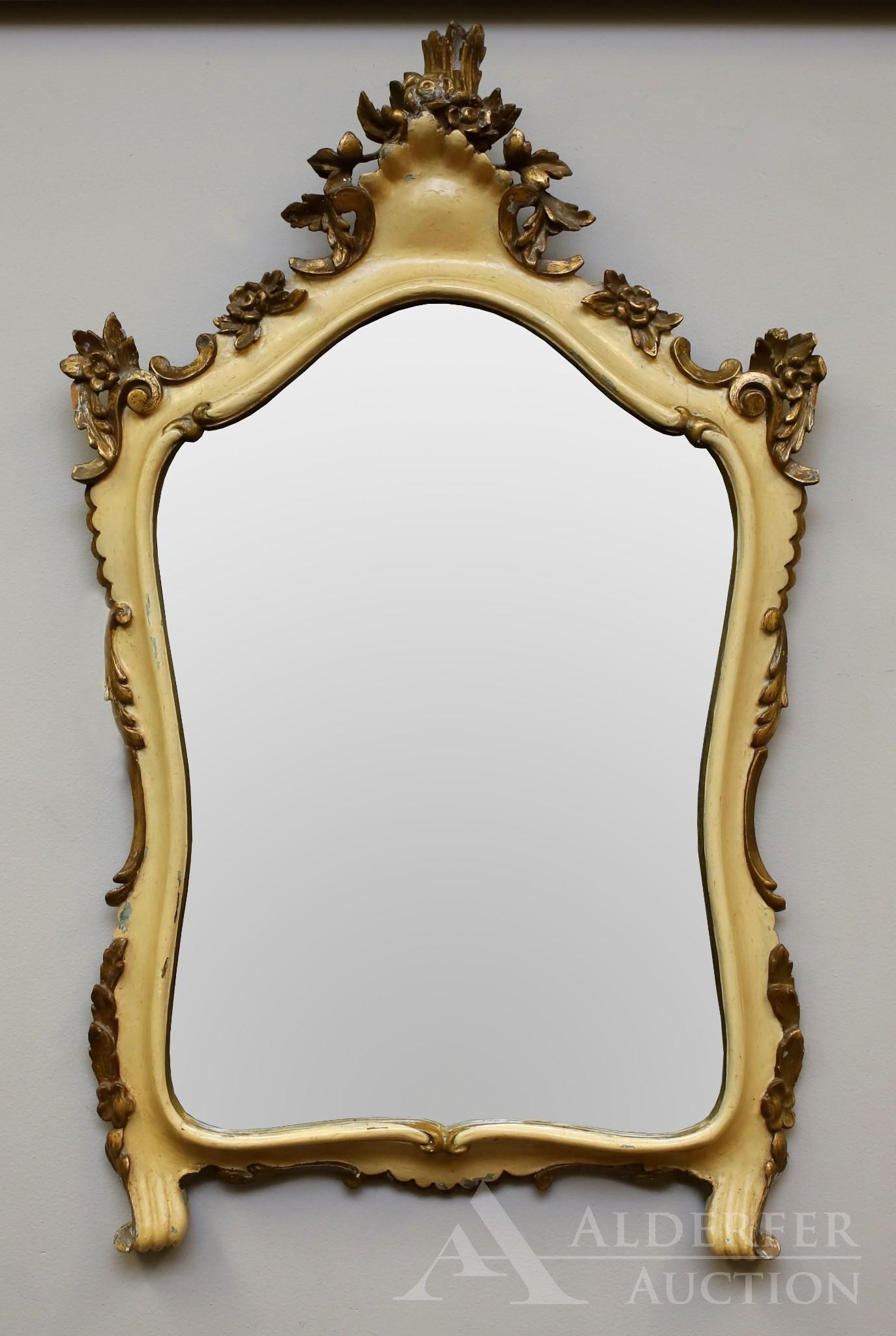 Ornate Italian Carved Wall Mirror