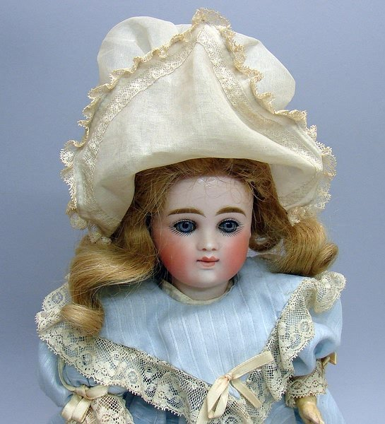 "7002: 13"" CLOSED MOUTH ""7"" Doll/Bisque, German"