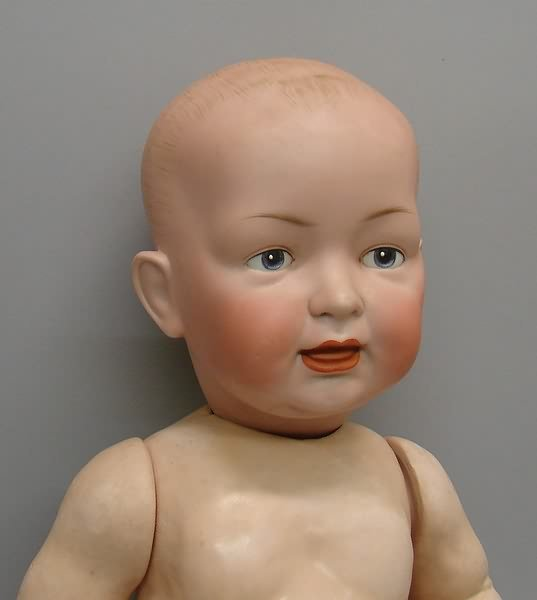 "7010: 23"" 142 15 Character Baby Doll/Bisque, German"