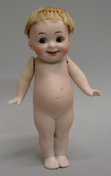 """7013: 5.5"""" All Bisque #222 14 Our Fairy Doll/German"""