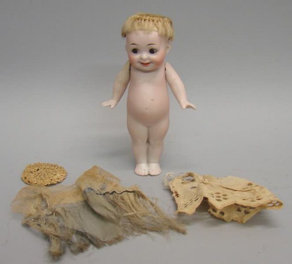 """7013: 5.5"""" All Bisque #222 14 Our Fairy Doll/German - 2"""
