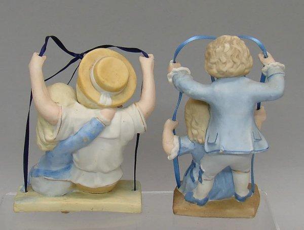 "7022: 2 Bisque""Swing"" Figurines - 2"