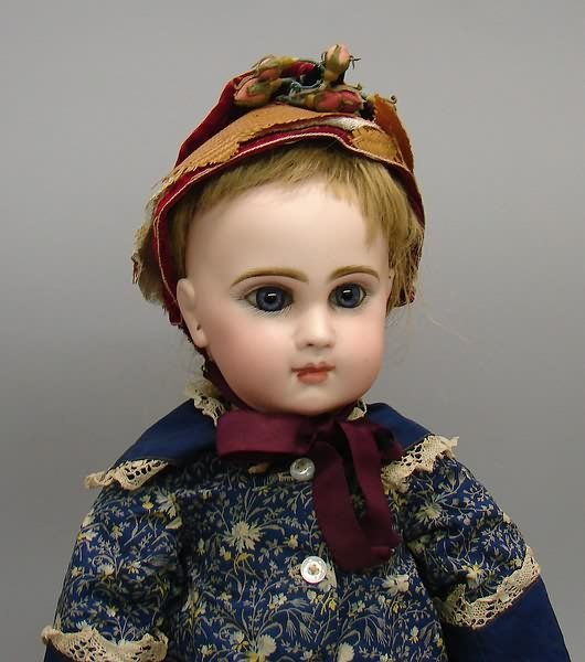 "7042: 18-1/2"" Depose TETE JUMEAU 8 Doll/Bisque, French"